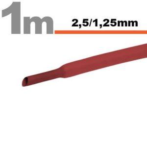 Zsugorcső Piros, 20 méter - 2,5 / 1,25 mm - 11020P