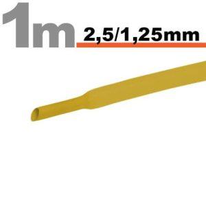 Zsugorcső Sárga, 20 méter - 2,5 / 1,25mm - 11020S