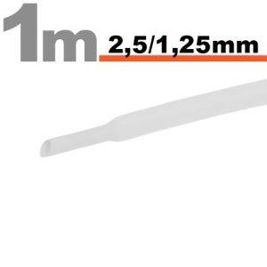 Zsugorcső Fehér, 20 méter - 2,5 / 1,25 mm - 11020W
