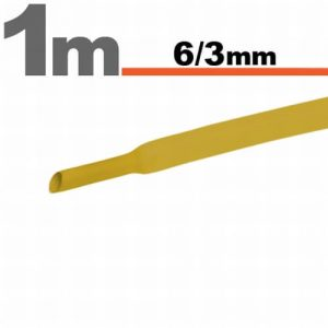 Zsugorcső Sárga, 10 méter - 6 / 3 mm - 11022S