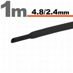 Zsugorcső Fekete, 5 méter - 4,8 / 2,4 mm - 11025F