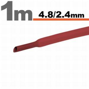 Zsugorcső Piros, 5 méter - 4,8 / 2,4 mm - 11025P