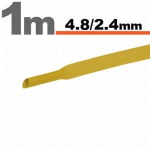 Zsugorcső Sárga, 5 méter - 4,8 / 2,4 mm - 11025S