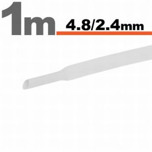 Zsugorcső Fehér, 5 méter - 4,8 / 2,4 mm - 11025W