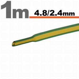 Zsugorcső Zöld/sárga, 5 méter · 4,8 / 2,4 mm - 11025X