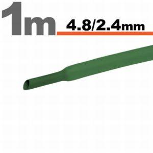 Zsugorcső Zöld, 5 méter · 4,8 / 2,4 mm - 11025Z
