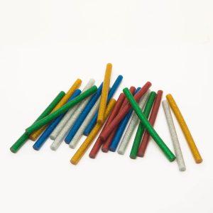 Ragasztórúd - 7 mm - színes, glitteres, 20 db / csomag - 11108C