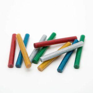 Ragasztórúd - 11 mm - színes, glitteres, 10 db / csomag - 11109C