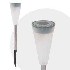 LED szolár lámpa műanyag - kúp alak 28 cm - 11376