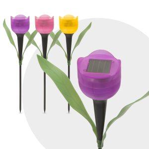 Garden of Eden LED-es szolár tulipánlámpa 30 cm - 11703