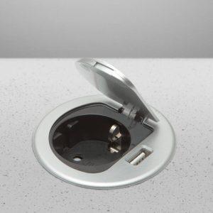 Rejtett - beépíthető konnektor + USB - 20461
