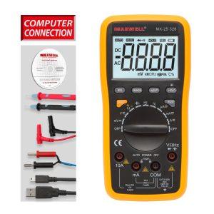 Digitális multiméter 5 az1-ben USB kapcsolattal - 25328