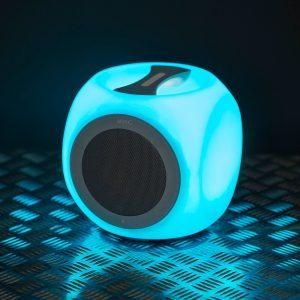 M.N.C. Chill Cube bluetooth hangszóró - hordozható, színváltós, szürke - 37951GY