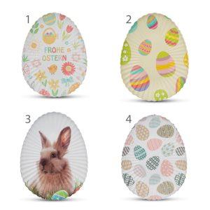 Húsvéti tálca - fém, tojás alakú - 24 cm - 4 féle - 55888
