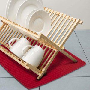 Mikroszálas edényszárító alátét 38 x 51 cm piros - 57094RD