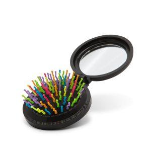 Összecsukható hajkefe tükörrel - 57136