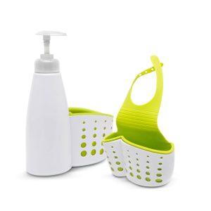 Fürdőszobai / konyhai eszköztartó pumpás flakonnal - 57360
