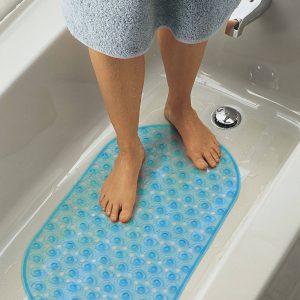 Fürdőszobai csúszásgátló 68 x 37,5 cm Kék - 57361BL