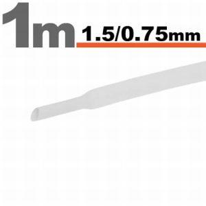 Zsugorcső Fehér, 20 méter - 1,5 / 0,75 mm - 11019W