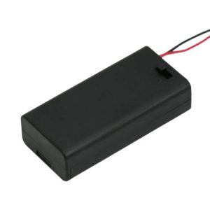 Elemtartó 2 db AA kapcsolóval, fedőlappal - 05346