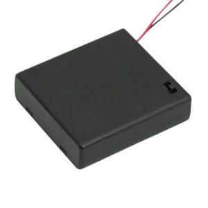 Elemtartó 4 db AA kapcsolóval, fedőlappal - 05348