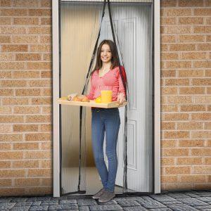 Delight Szúnyogháló függöny ajtóra mágneses 100 x 210 cm - 11398BK