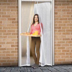 Delight Szúnyogháló függöny ajtóra mágneses 100 x 210 cm - 11398WH