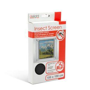 Delight Szúnyogháló ablakra 100 x 100 cm fekete - 11600BK