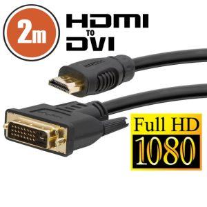 Delight DVI-D / HDMI kábel • 2 m - 20380