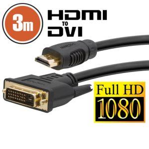 Delight DVI-D / HDMI kábel • 3 m – 20381