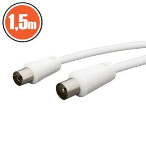 KOAX kábel dugó - aljzat 1,5 m - 20112