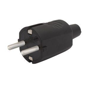 Lengő dugó 250 V ~ 50 Hz / 16 A, Fekete - 05938