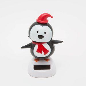 Family Pound - Szolár dekoráció - pingvin - 11459G