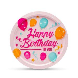 Fém tálca - Happy Birthday - 55932E