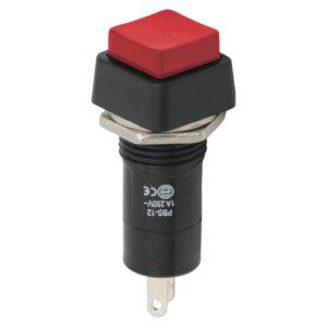 Nyomógombos kapcsoló 1 áramkör 1 A - 250 V - 10 db / csomag - 09024PI