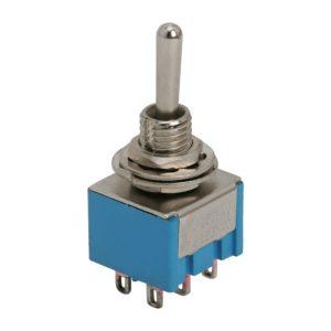 Karos kapcsoló 2 áramkör 3A-250V - 5 db / csomag - 09028