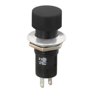 Nyomógombos kapcsoló 1 áramkör 1 A (3 A) - 250 V - 10 db / csomag - 09074FK