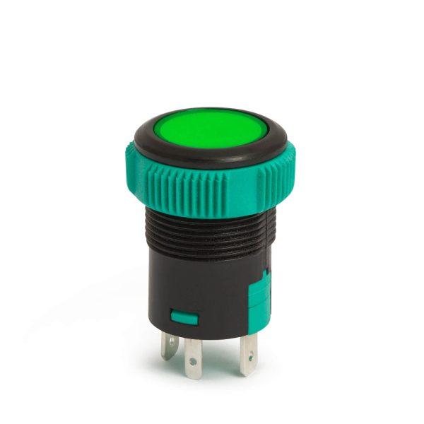 Nyomógombos kapcsoló 1 áramkör 20 A - 12 V - IP67 ON - OFF - 09154GR