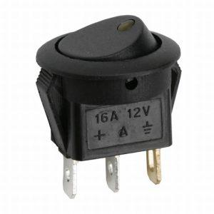 Billenő kapcsoló 1 áramkör 16 A - 12 V DC ON - OFF - 5 db / csomag - 09042SA