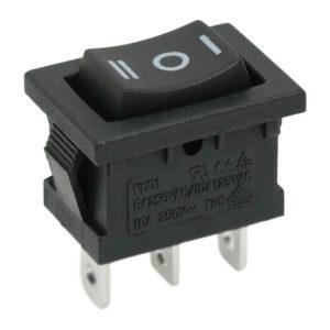 Billenő kapcsoló 1 áramkör 6 A - 250 V ON - OFF - ON - 5 db / csomag - 09084
