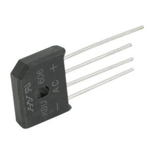 Graetz 08109 - KBU 606 - 6 A • 600 V - 5 db / csomag