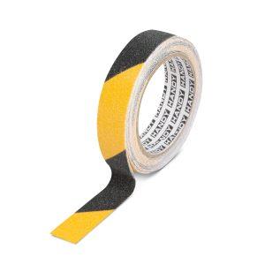 Handy 11087B Ragasztószalag - csúszásmentes - 5 m x 25 mm - sárga / fekete