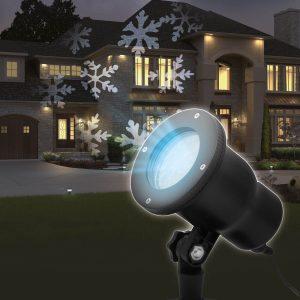 PHENOM LED projektor leszúrótüskével - hópehely - IP44 - 54907