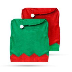 Family Pound Székdekor - manósapka - piros / zöld - 55926D