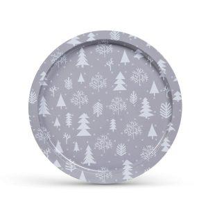 Family Pound Karácsonyi tálca - fém - 31 cm - 55932G