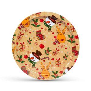 Family Pound Karácsonyi tálca - fém - 31 cm - 55932H