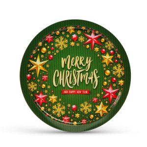 Family Pound Karácsonyi tálca - fém - 31 cm - 55932I