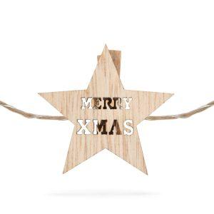 Family Csillag alakú karácsonyi fa csipesz melegfehér LED-del - 58010C