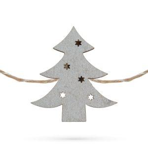 Family Fenyőfa alakú karácsonyi fa csipesz melegfehér LED-del - 58010D