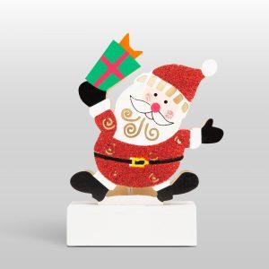 Family Karácsonyi LED asztali dekor fából - mikulás - 58011C
